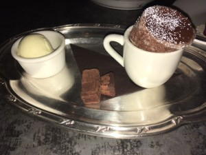 Chocolate Souffle with truffles